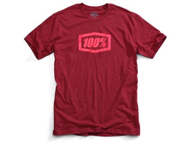 100% Essential T-Shirt Heren rood